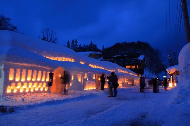 山形 雪まつり 月山志津温泉 雪旅籠の灯り