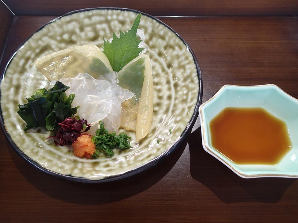 加茂水族館 レストラン 沖海月 クラゲ 刺身