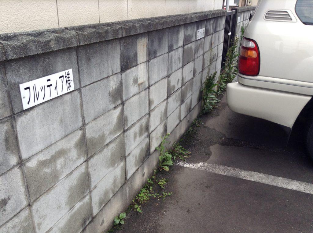天童市 フルッティア 駐車場