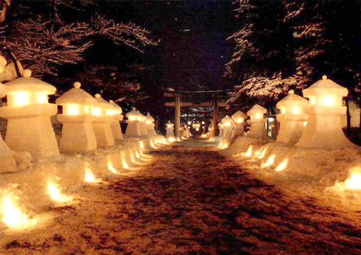 山形 雪まつり 上杉雪灯篭まつり