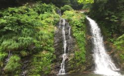 銀山温泉 銀山遊歩道 白銀の滝