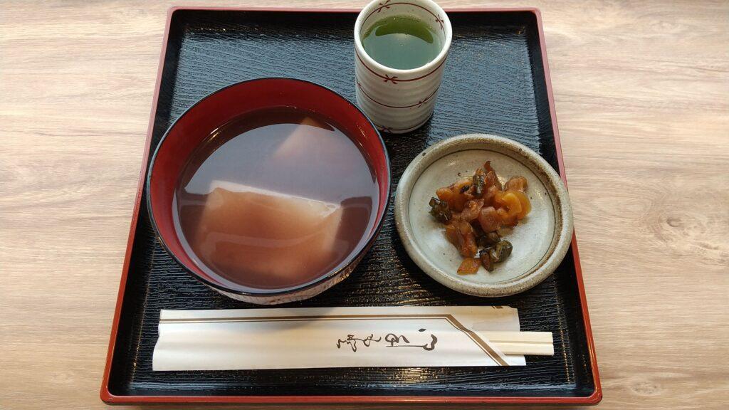 蔵王温泉 稲花餅の里さんべ おしるこ